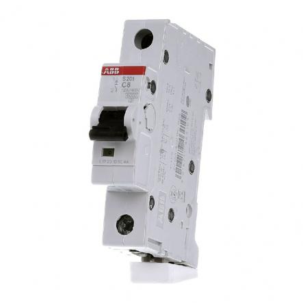 Автоматический выключатель ABB S201 C1 1п 8А(2CDS251001R0084) - 1