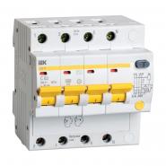 Дифференциальный автоматический выключатель IEK АД-14 4р 50А 30мА