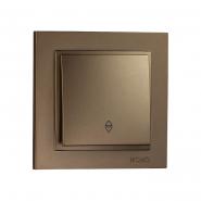 Выключатель 1кл.проходной  Mono Electric, DESPINA (бронза)