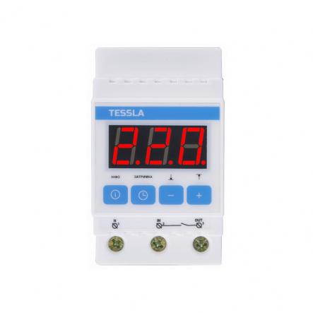 Терморегулятор TESSLA на DIN-рейку для систем снеготаяния 32 А, 7кВТ DTS - 1