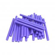Термоклей тонкий диам.-7мм, L: 100мм, фиолетовый, 1кг.