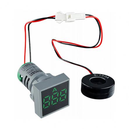Амперметр цифровой ED16-22FAD 0-100A (зелёний) врезной монтаж - 1