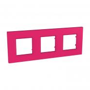 Рамка 3 мод Pink UNIKA QUADRO розовый