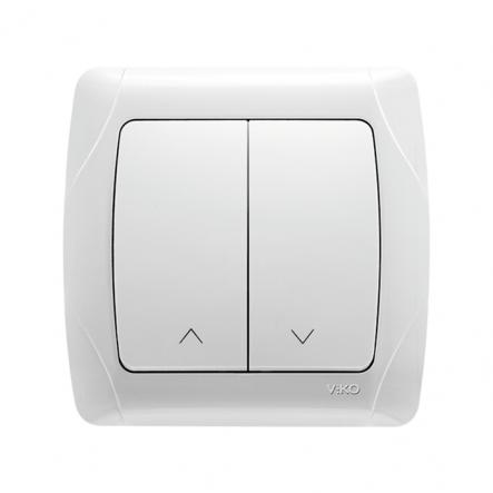 Выключатель для управления жалюзи белый VIKO Серия CARMEN - 1