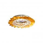 Светильник точечный MR-16 CD2313 50W прозрачный желтый/хром