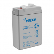 Аккумуляторные батареи MERLION AGM GP645 6V 4.5Ah (70x47x100).White/Black