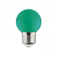 Лампа LED 1W E27 зеленая 10/250 HOROZ