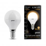 Лампа Gauss LED Black G45 6,5W E14 2700K