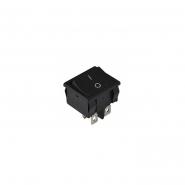 Переключатель 1кл  черный KCD1-6-201 B/B АСКО