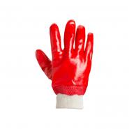 перчатки рабочие МБС с красным покрытием эластичный манжет 4518