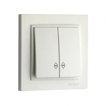 Выключатель 2кл.проход. Mono Electric, DESPINA (белый) - 1