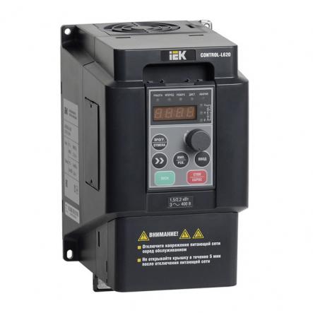Преобразователь частоты CONTROL-L620 380В, 3Ф 1,5-2,2 kW IEK - 1