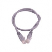 Патч-корд UTP cat.5Е 2M, литой, CCA, серый, блистер