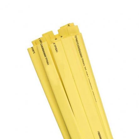 Трубка термоусадочная ТТУ 28/14 жёлтая 50м/рул ИЕК - 1