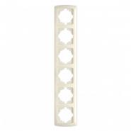 Рамка шестерная вертикальная крем VIKO Серия CARMEN