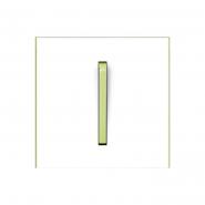 Клавиша одинарная Neo белый/зеленый лед