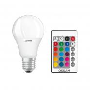 Лампа OSRAM LEDS CLA60 REM 9W/827 FR 230V E27 BLI1 (с пультом)