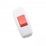 Выключатель навесной бело-красный на бра LEZARD