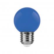 Лампа LED LB-37 G45 1W 230V E27 синяя Feron