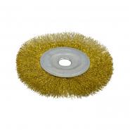 Щетка-крацовка дисковая,латунная 150 мм