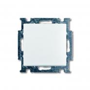 Выключатель одноклавишный встраиваемый  проходной ABB белый Basic 55