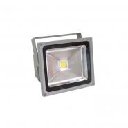 Прожектор светодиодный квадрат 1LED/30W-белый 230V серый (IP65) 225*183*110мм