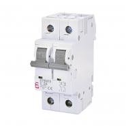 Автоматический выключатель ETI 6 2p C 20А (6 kA) 2143517