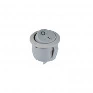 Перемикач  1кл кругл KCD1-5-101 Grey/Grey АСКО