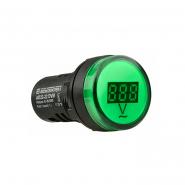 Вольтметр AD22-22DVM AC 80-500В (зеленый) врезной монтаж