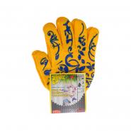 Перчатки трикотажные желтые с пвх   (10класс  40%-хлопок, 60%-полиэстер), р.9