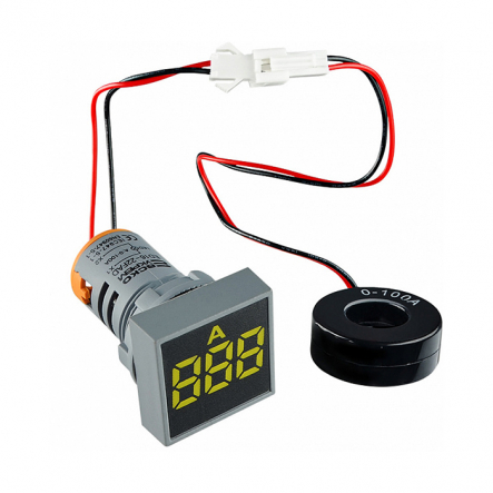 Амперметр цифровой ED16-22FAD 0-100A (жёлтий) врезной монтаж - 1