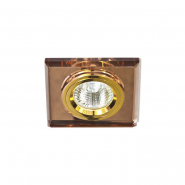 Светильник точечный Feron 8170-2  коричневый/золото