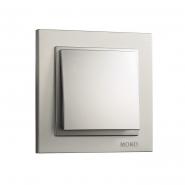 Выключатель  1 кл.  Mono Electric, DESPINA (серебро)