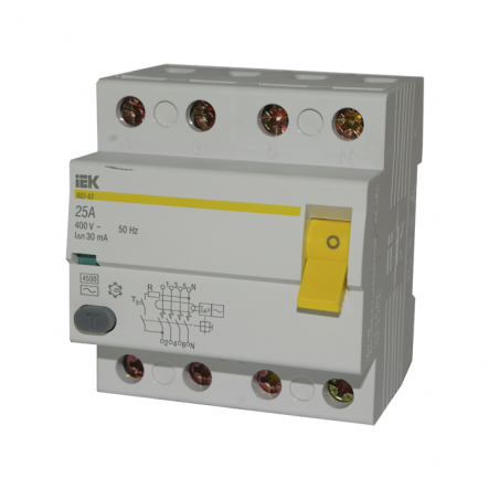 Устройство защитного отключения УЗО IEK ВД1-63 4p 16A/30мА - 1