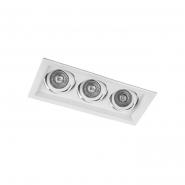 Светильник точечный  Feron DLT203 3xMR16/G5.3 белый поворотный