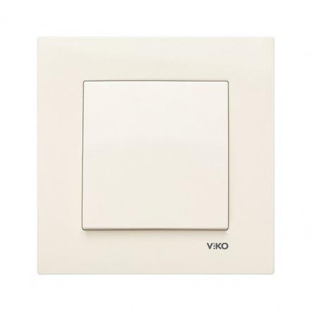 Выключатель одноклавишный крем VIKO Серия KARRE - 1