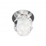 Светильник точечный Feron JD94 JCD9 35W прозрачный матовый хром