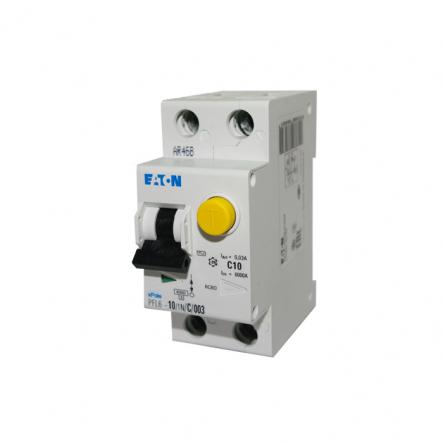 Дифференциальный автоматический выключатель PFL6-10/1N/C/0.03 MOELLER - 1