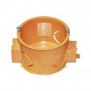 Коробка установочная д.60 по бетон стыковочная с винтами оранжевая
