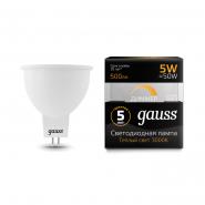 Лампа Gauss LED MR16 GU5.3-dim 5W 2700R диммерная