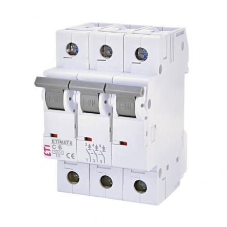 Автоматический выключатель ETI С 6A 3p 6кА 2145512 - 1