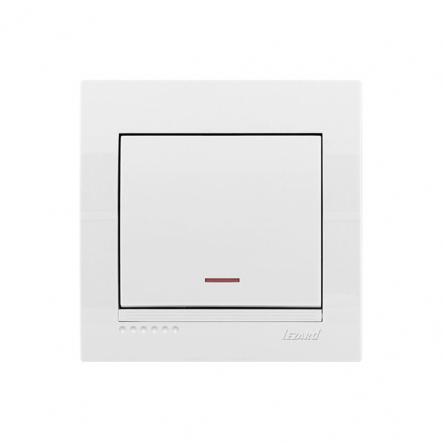 Выключатель с подсветкой белый DERIY LEZARD - 1