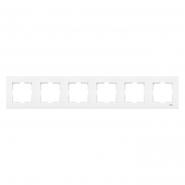 Рамка шестерная горизонтальная белый VIKO Серия KARRE