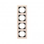 Рамка 4-я вертикальная крем  Lezard серия RAIN