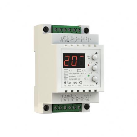 Терморегулятор TERNEO terneо k2 -9...+99 °С 2х16А для теплого пола - 1