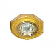 Светильник точ. MR-16 G5.3 мерцающие золото-золото