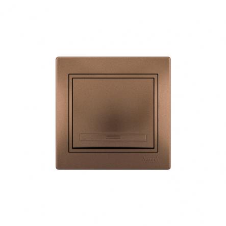 Выключатель светло-коричневый перламутр с/вст. MIRA - 1