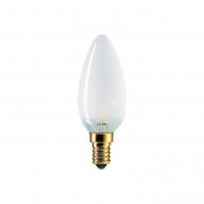 Лампа накал. В-35 40W E27 свеча матовая PHILIPS