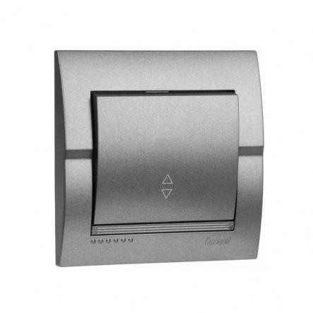 Выключатель 1-кл проходной темно серый металлик DERIY - 1