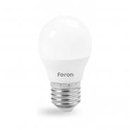 Лампа светодиодная LB-380 G45 230V 4W 340Lm  E27 4000K  Feron
